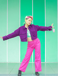 Aww Nhi - Baeclub Jacket, 143 Pink Pant, Top - Colourful as yesterday