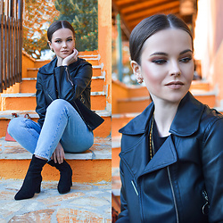 Tamara Bellis - Zaful Leather Jacket, Zara Jeans, Zaful Boots - Biker Girl Style