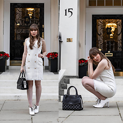 Eloise Alice -  - The white tweed Chanel dress