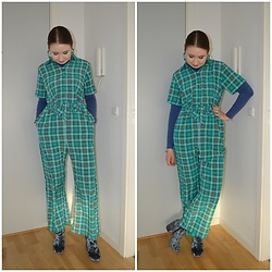 Mucha Lucha - Monki Jumpsuit, Vrs Roll Neck Top, Asos Boots - Working from home
