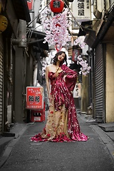 Louise Xin - Louise Xin Couture Dress - Omoide Alley - Tokyo Japan