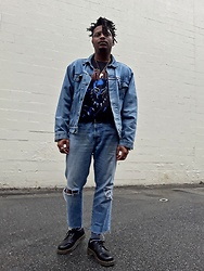Jason - Dr. Martens Boots, Levi's Denim Jacket - Spring Cool