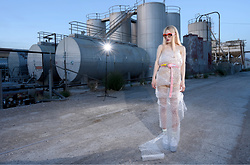 Emmalynn V - Heron Preston Industrial Belt, Unif Transparent Jelly Platform Sandals, Miu Sunglasses - Solipsism II
