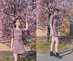 Nora Aradi - Alice's Pig Dress, Zara Flats, Ted & Baker Backpack - Sakura