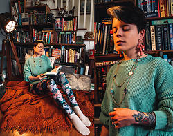 Carolyn W - Grand Tour Collection Classical, Femme Luxe Mint, Black Milk Clothing Take My Monet - Cozy Book Nook