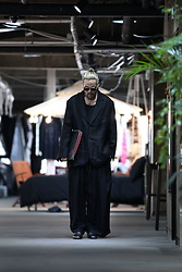 INWON LEE - Byther Baggy Size Jacket, Byther Baggy Pants, Byther Black Leather Slip On - What shoes do you wear?