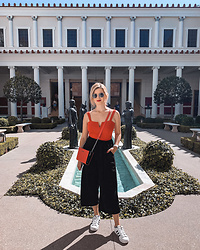 Vlada Kozachyshche - Bershka Bodysuit, Steve Madden Crossbody Bag, T.J.Maxx Pants, Adidas Sneakers - Outfit for the weekend