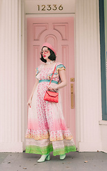 Amy Roiland - Welden Bag, Manoush Dress - Pink Chillin