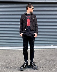 ★masaki★ - Neuwdenim Denim Jacket, Neuwdenim Jeans, The Cure Tee, Eytys Angel, Vitaly Necklace - Pornography