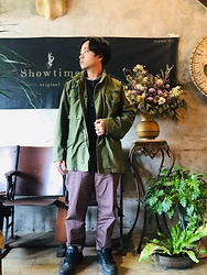 Yu-cheng Chen - Vintage M65 Field Jacket, Uniqlo 棕色西裝褲, Nike Dad Shoes - Use your gifts in stylish