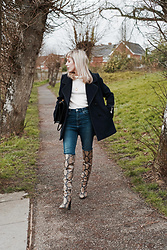 Daniella Robins - Snake Print Boots - How I'm Maintaining A Sense Of Normality