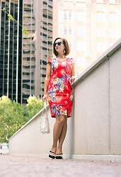Lindsey Puls - Lilee Fashion Red Floral Dress - Red Floral Dress for Spring