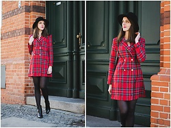 Ewa - Shein Tartan Blazer Dress - Tartan Blazer Dress
