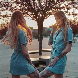 Katarzyna KOKA Konderak - Na Kd Dress - Denim dress
