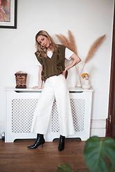Daniella Robins - Zara Vest, Culottes - The Knitted Vest & How I Styled It