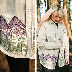 Wioletta M - My Fashion Diy Denim Jacket - Hand Printed Denim Jacket