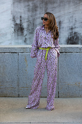 Lauren Recchia - Happy X Nature Jumpsuit, Christian Louboutin Booties, Brave Leather Belt - Boho Jumpsuit