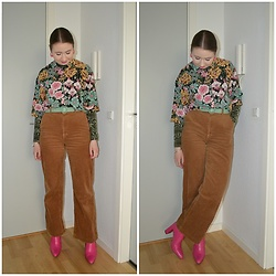 Mucha Lucha - Monki Shirt, H&M Roll Neck Top, Asos Belt, H&M Trousers, Zara Boots - In mind