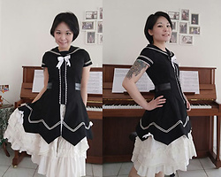 Nowaki Selenocosmia - Bodyline White Skirt, Bodyline Sailor Long Blouse - Full Bodyline