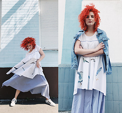 Vlada Kozachyshche - Booriva Dress, Adidas Sneakers, Bershka Earrings - Groovy
