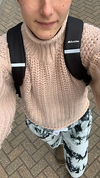 Hayleigh Maxim - H&M Jumper, Eurohike Rucksack, Missguided Joggers, Ugg Boots - Isolation chic