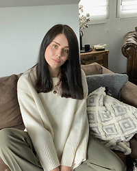 Monika Ruzgute - Zara Knitwear, Mango Trousers - Casual Sofa day