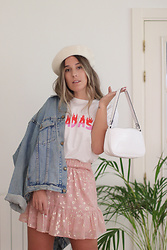 Claudia Villanueva - Vintage Jacket, Loavies T Shirt, Yes Style Bag, Loavies Skirt - Sweet Quarantine