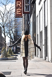 Amelia Burns - Zara Scarf, Zara Leather Jacket, H&M Dress, Dsw Booties - Solo Chicago