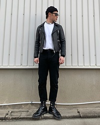 ★masaki★ - Neuw Denim Ridersjacket, Neuw Denim Jeans, Dr. Martens Boots, Vitaly Necklace - SIMPLE FITS