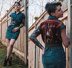 Carolyn W - Femme Luxe Denim, Freebird By Steven Buckled - Quarantine Crafts: Upcycling