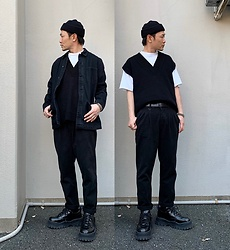 ★masaki★ - Neuw Denim Jacket, Neuw Denim Pleat Pants, Eytys Angel - NEUW DENIM