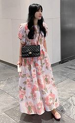 Miamiyu K - Miamasvin Puff Sleeve Long Floral Dress | $ 84.40 - Street Belle