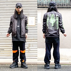 @KiD - (K)Ollaps Tech House, Supreme Hr Giger, Shoop Nylon Tops, Sasukauppi Cyber Sweat Pants, Buffalo Platform - JapaneseTrash556