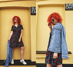 Vlada Kozachyshche - Booriva Dress, Adidas Sneakers, Bershka Earrings - Cherry Bomb