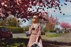 Aleksandra G - Sinsay Pink Flowered Dress - Spring Vibes