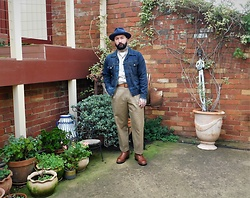 Jared Acquaro - Akubra Style Master, Mccoy Denim Jacket, Chinos, John Lofgren Engineer Boots - Heritage Yard
