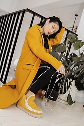 Ava Foo - Mackage, Adidas, Mou, Atelierso - Yellow and yellow