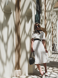 Joicy Muniz - Object Dress, Christian Dior Bag - Middle East