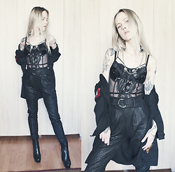 Kadri S - Black Lace Bodysuit, Trousers - Blvck