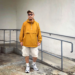 Mannix Lo - Uniqlo Oversized Anorak Parka, Uniqlo Cargo Shorts, New Balance 993 Sneakers - Maybe I don't say but I feels. Maybe I don't show but I care