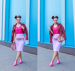 Drew - Walkmaxx Shoes, Cowcow Skirt - Pink