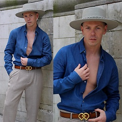 A'la mode garçon - Asn Hat, Calvin Klein Shirt, Dsquared2 Belt, Zara Trousers - Party 4 U /Ala Mode Garcon