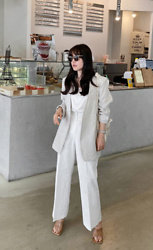 Miamiyu K - Miamasvin Open Front Linen Jacket | $86.20 - Striking Basic
