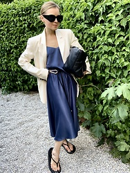 Anna Borisovna - Inwear Blazer, Esprit Top, Mango Belt, Esprit Skirt, Zara Sandals - The Satin Skirt