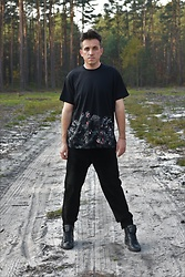 Pawel - Givenchy T Shirt, Leather Pants, Zadig & Voltaire Sneakers - May.