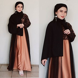 Nia Rusady -  - Hijab Black Brown