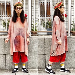 @KiD - Override Oriental Beret, Henrik Vibskov One Piece, Code Red Crust Shorts, Nike Air Lift - JapaneseTrash564