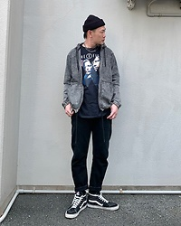 ★masaki★ - The X Files Movie Tshirts, Rvca Denim Hoodie, Neuw Denim Studio Relaxed, Vans Hitop - THE X FILES