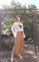 Nowaki Selenocosmia - Zaful Transparent Top, Wide Leg Pants, Axes Femmes Sandals, Liz Lisa Crop Top - May
