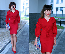 Jointy&Croissanty © - Femmeluxefinery Dress - Red total look